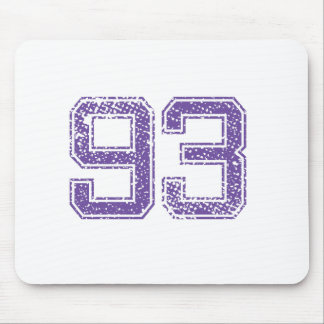 Purple Sports Jerzee Number 93.png Mouse Pad