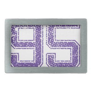 Purple Sports Jerzee Number 95.png Rectangular Belt Buckle