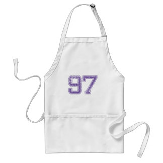 Purple Sports Jerzee Number 97.png Adult Apron