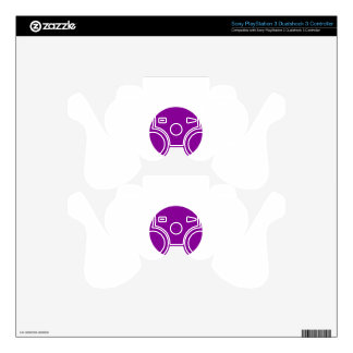 Purple Spot PS3 Controller Decals