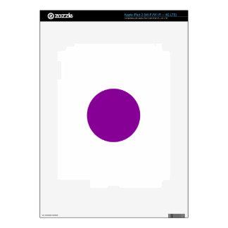 Purple Spot Skin For iPad 3