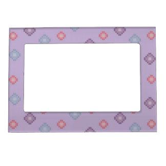 Purple Spots Magnetic Frame