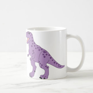 Purple Spotted Cute T-Rex Dinosaur Coffee Mug