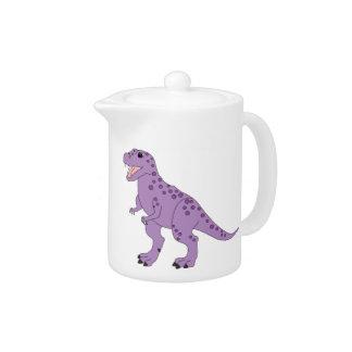 Purple Spotted Cute T-Rex Dinosaur