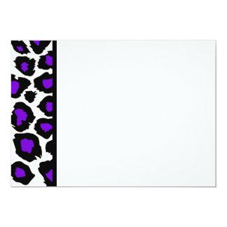 Purple Spotted Leopard Panel Invitation