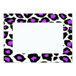 "Purple Spotted Leopard Print Invitation 5"" X 7"" Invitation Card"