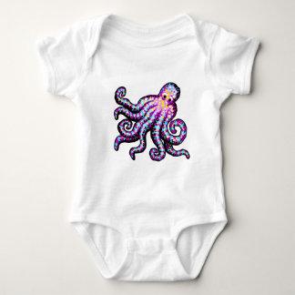 Purple Spotted Octopus Baby Bodysuit