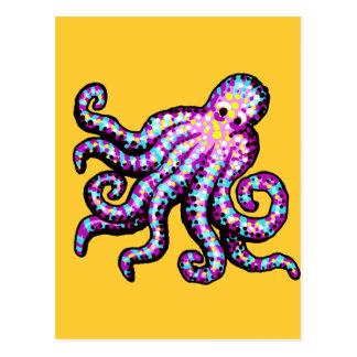 Purple Spotted Octopus Postcard