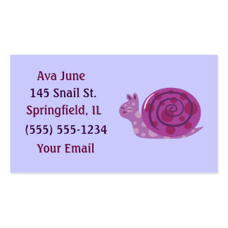 Purple Spotted Snail Business Cards