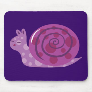 Purple Spotted Snail Mouse Pad
