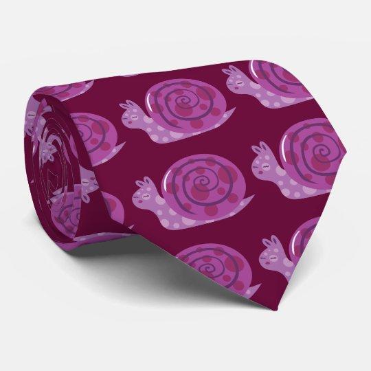 Purple Spotted Snail Neck Tie