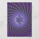 Purple Spral Fractal Celtic Diamond