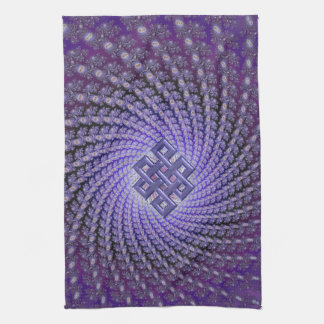 Purple Spral Fractal Celtic Diamond Hand Towel