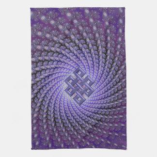 Purple Spral Fractal Celtic Diamond Towel