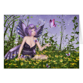 Purple Spring Fairy Note Card