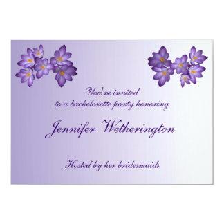 Purple Spring Floral Bachelorette Party Card