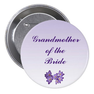 Purple Spring Floral Grandmother of the Bride Pin