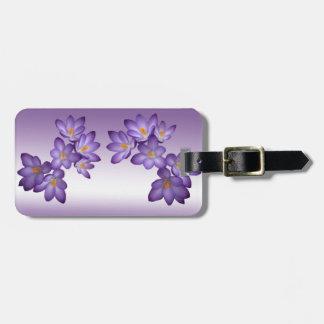 Purple Spring Floral Luggage Tag