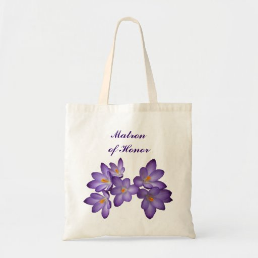 Purple Spring Floral Matron of Honor Bag