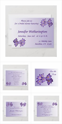 Purple Spring Floral Wedding