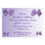 Purple Spring Floral Wedding Brunch Invites