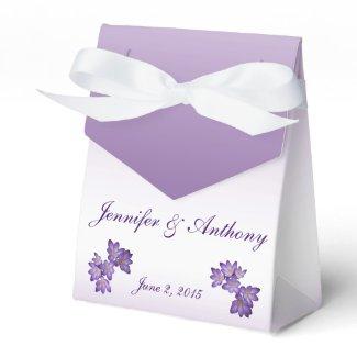 Purple Spring Floral Wedding Favor Box