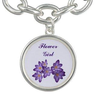 Purple Spring Floral Wedding Flower Girl