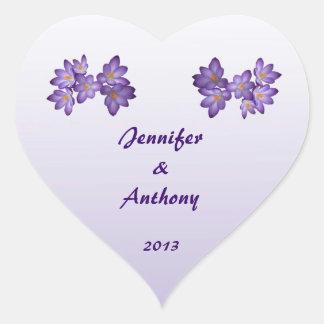 Purple Spring Floral Wedding Stickers