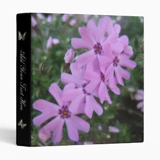 Purple Spring Flowers Binder