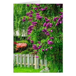 Purple Spring Flowers Card