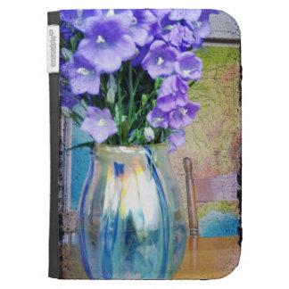 Purple spring flowers kindle case