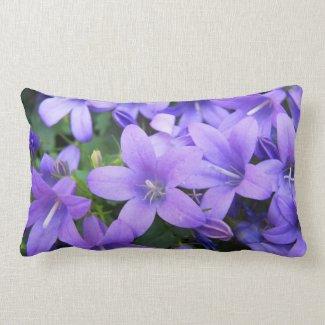 Purple Spring Flowers Pillow