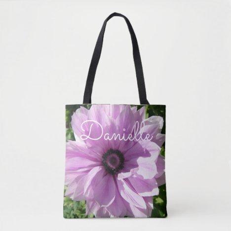 Purple Spring pink Floral flowers Ladies Name Bag
