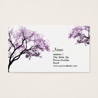 Purple Spring Trees Business Cards