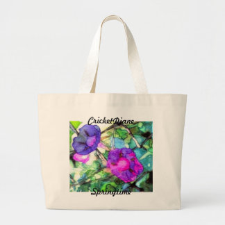 Purple Springtime Flowers CricketDiane Canvas Bag