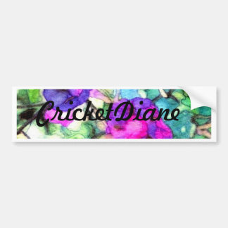 Purple Springtime Flowers CricketDiane Car Bumper Sticker