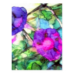 Purple Springtime Flowers CricketDiane Postcard