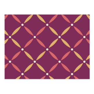 Purple square flowers postcard