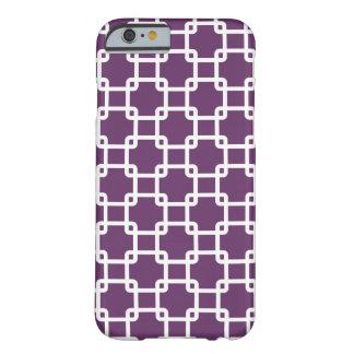Purple Square Link Pattern iPhone 6 Case