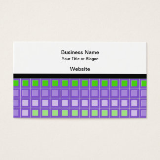 Purple Square Pattern Business Card