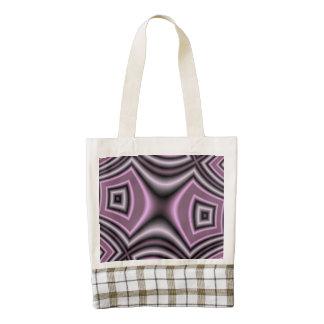 Purple Square pattern Zazzle HEART Tote Bag