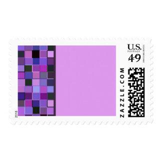 Purple Square Single Border Postage
