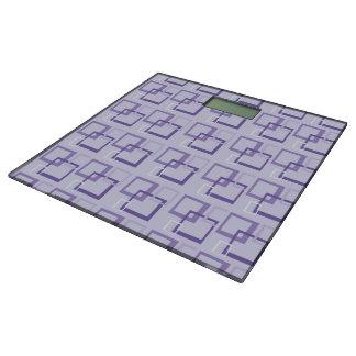 Purple Squares Bathroom Scale