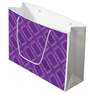 Purple Squares Gift Bag Large Gift Bag