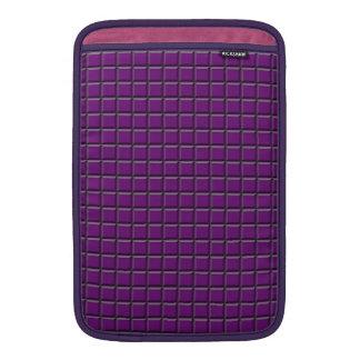 """Purple Squares MacBook Air 11"""" Sleeve"""