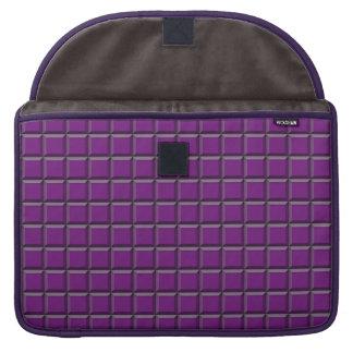 "Purple Squares MacBook Pro 15"" Sleeve"