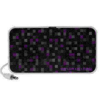 Purple Squares Mp3 Speaker