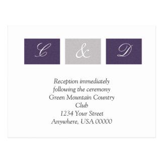 Purple Squares RSVP Card