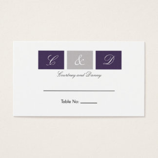 Purple Squares Table Cards