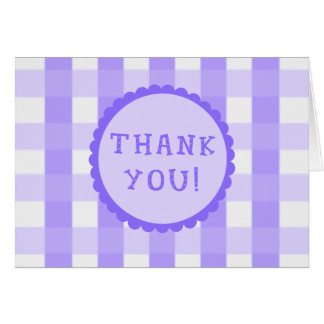 Purple Squares Thank You Card